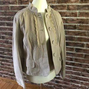 APT 9 Jacket Beige/Tan/Khaki Button Sz Large